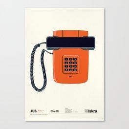 Telephone Eta80 - Iskra Canvas Print