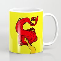 redhead Mugs featuring Redhead by Moonworkshop