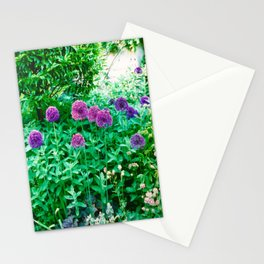 Allium Drumsticks Stationery Cards