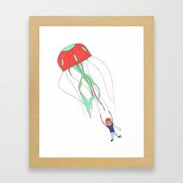 Jelly Fish Parachute  Framed Art Print