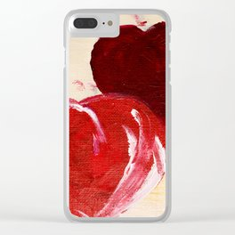 Twin hearts belong together Clear iPhone Case