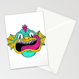 Monster Dragon Face Stationery Cards