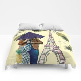 When it rains in Paris Comforters