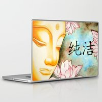 buddah Laptop & iPad Skins featuring Buddah (Purity) by JackiesGamingArt