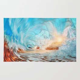 The evening wave Rug