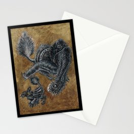 """""""Victorians Riding Dinosaurs - Nomingia"""" Stationery Cards"""
