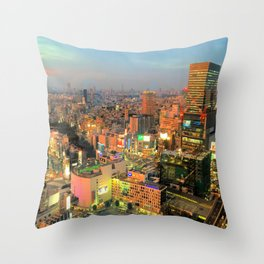 Shibuya, Tokyo, Japan Throw Pillow