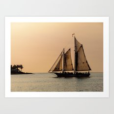 Sunset in Key West Art Print
