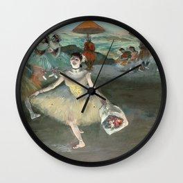 Edgar Degas - Dancer With Bouquet Wall Clock