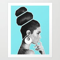 vogue Art Prints featuring Vogue by G-Fab