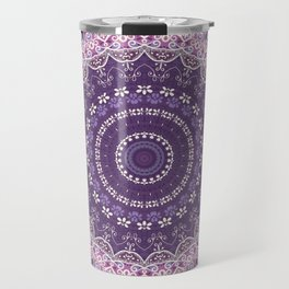 Purple Lace Mandala Travel Mug