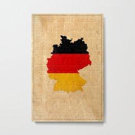 Map Of Germany 1630 Metal Print