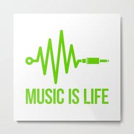 Music is life Metal Print