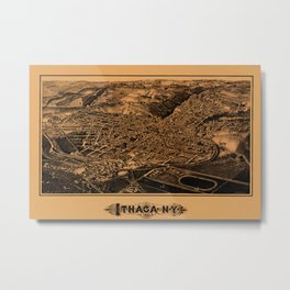 Map Of Ithaca 1882 Metal Print
