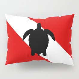 Diving Flag: Sea Turtle Pillow Sham
