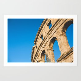 Part of Pula Roman Arena Art Print