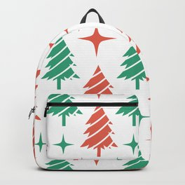Christmas Tree Pattern Fir Pine Ornament Backpack