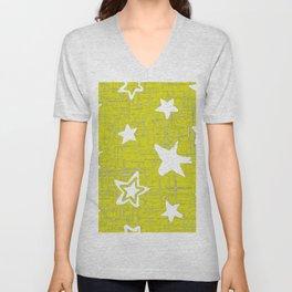 Star Pattern Designs, Yellow Designs, Home Decor Patterns Unisex V-Neck