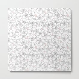 Cherry Blossom Pink Blocks Metal Print