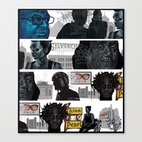 subway Canvas Prints featuring Subway by robweissillustration.com