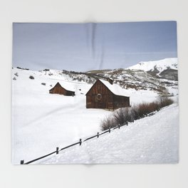Snow Covered Cabin - Carol Highsmith Throw Blanket