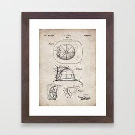 Firemans Helmet Patent - Fire Fighter Art - Antique Framed Art Print