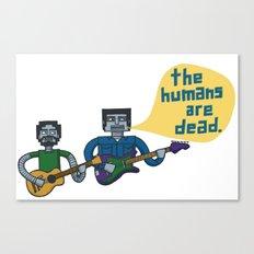 Conchords Robots Canvas Print
