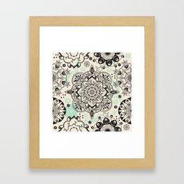 Mandala pattern Framed Art Print