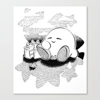 kirby Canvas Prints featuring Kirby by Pajarona