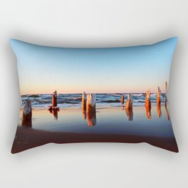 Reflected Remains on the Beach Rectangular Pillow