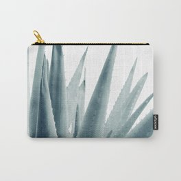 Agave Blue Vibe #1 #tropical #decor #art #society6 Carry-All Pouch