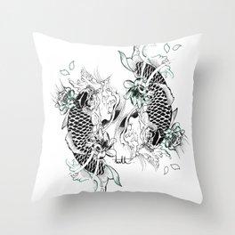 Japan Fish Throw Pillow