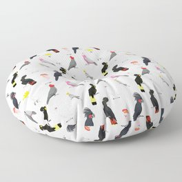 Australian cockatoos pattern Floor Pillow