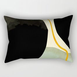 shapes organic mid century modern Rectangular Pillow