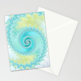 Teal Dreams Collection (1) - Fractal Art  Stationery Cards