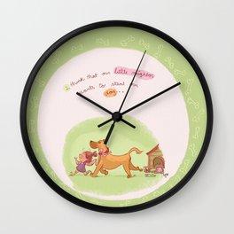 Little neighbor! Pets! Wall Clock