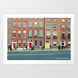 Busy Day in Dublin Art Print