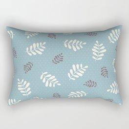 Falling Leaves – Blue Rectangular Pillow