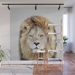 Lion 2 - Colorful Wall Mural