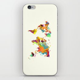 world map color art 2 iPhone Skin