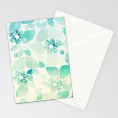 Flowers and Snowflakes Pattern Stationery Cards