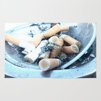 cigarettes Area & Throw Rugs featuring Cigarettes by Beatrice