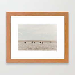 welcoming committee Framed Art Print