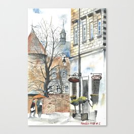The Warsaw Barbican Poland Canvas Print