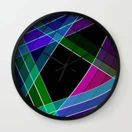 Multicolored silk 3 Wall Clock