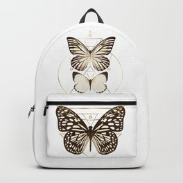 butterflies and gold geometry Backpack