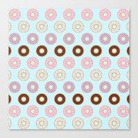 doughnut Canvas Prints featuring Doughnut Polka by Karolis Butenas