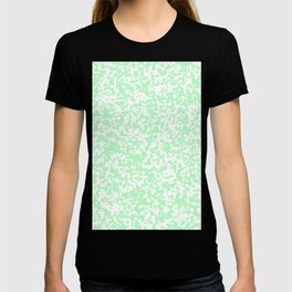 Small Spots - White and Light Green T-shirt
