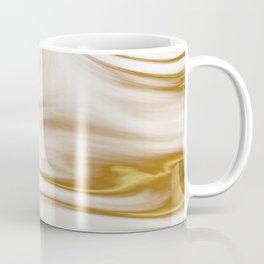 Gold Milky Swirl Marble Coffee Mug