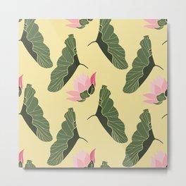 Lotos  botanical mix pattern Metal Print